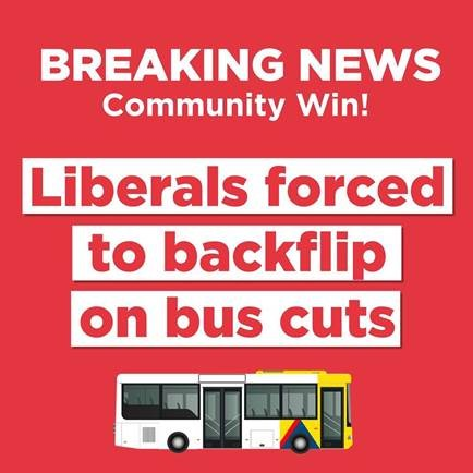 Bus Cuts Cancelled!